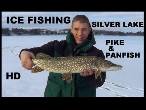 ICE FISHING SILVER LAKE PIKE & PANFISH
