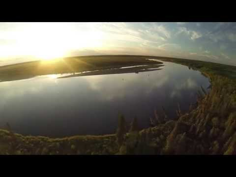 Incredible drone footage of Alaska fly fishing!