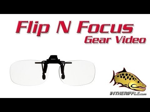 Flip N Focus Fly Fishing Sunglasses Clip On Magnifiers
