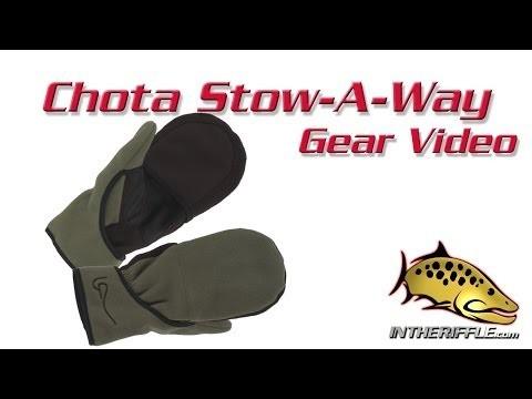 Chota Stow-A-Way Fly Fishing Flip Mitten Winter Gloves