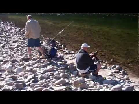 Tommy boots up, Dan teaches some flyfishing
